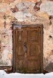 Rocznika drewniany drzwi stary zbudować Obraz Royalty Free