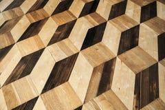 Rocznika drewniany parkietowy posadzkowy tło Fotografia Royalty Free