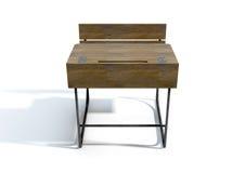 Rocznika Drewniany Szkolny biurko Fotografia Stock
