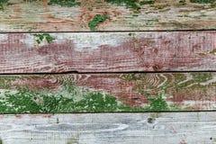 Rocznika drewniany tło z obieranie farbą Obrazy Royalty Free
