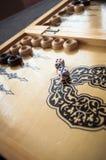 Rocznika drewniany trik-trak Zdjęcia Royalty Free