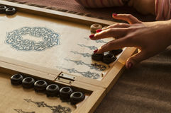 Rocznika drewniany trik-trak Zdjęcie Royalty Free