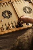 Rocznika drewniany trik-trak Obrazy Stock