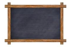 Rocznika drewno obramiający łupkowy chalkboard zdjęcie royalty free