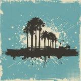 Rocznika drzewka palmowego tło Obraz Royalty Free