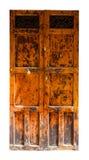 Rocznika dwoisty drewniany drzwi Fotografia Stock