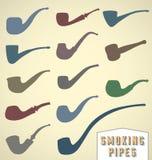 Rocznika dymienia drymby Inkasowe Zdjęcie Stock