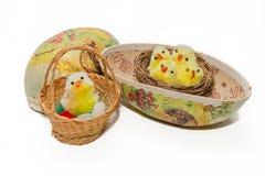Rocznika Easter dekoracje Obrazy Stock