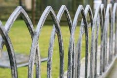 Rocznika żelaza ogrodzenie w Anglia Obrazy Stock