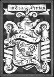 Rocznika elementu graficzny żakiet ręka Zdjęcie Royalty Free