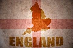 Rocznika England mapa Obraz Stock