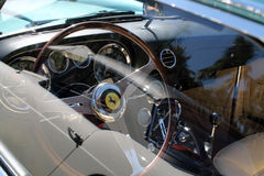 Rocznika Ferrari 250 dodatku specjalnego kierownica  Zdjęcia Royalty Free