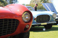 Rocznika Ferrari uszeregowania zakończenia up - frontowy widok 01 Fotografia Royalty Free