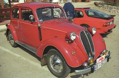 Rocznika Fiat czerwony 1500 samochód Obrazy Royalty Free