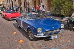 Rocznika Fiat 124 sporta pająk Obrazy Royalty Free