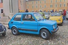 Rocznika Fiat 126 Włoski samochodowy ogłoszenie towarzyskie 4 obraz royalty free