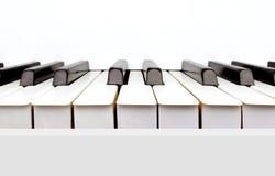 rocznika fortepianowy biel Fotografia Royalty Free
