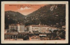 Rocznika Francja pocztówka Fotografia Royalty Free