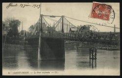 Rocznika Francja pocztówka Denis Obrazy Stock