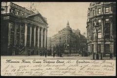 Rocznika Francja pocztówka Londyn Zdjęcie Stock