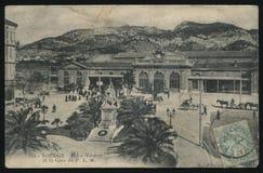 Rocznika Francja pocztówka Toulon Zdjęcie Royalty Free