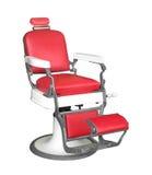 Rocznika fryzjera męskiego krzesło odizolowywający. fotografia stock