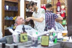 Rocznika fryzjera męskiego sklep Fotografia Stock