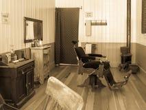 Rocznika fryzjera męskiego sklep Obraz Royalty Free
