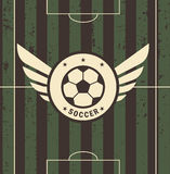 Rocznika futbolu znak na polu ilustracja wektor