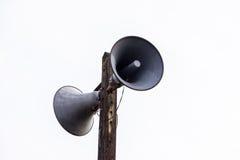 Rocznika głośnik odizolowywający na bielu Obrazy Stock