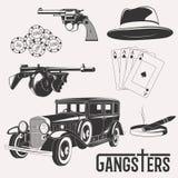 Rocznika gangstera set royalty ilustracja