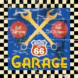 Rocznika garażu znak Obrazy Stock
