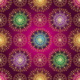 Rocznika gradientu bezszwowy ciemny purpurowy wzór Zdjęcia Royalty Free