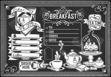 Rocznika graficzny element dla prętowego menu ilustracja wektor