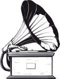 rocznika gramofonowy ilustracyjny wtercolor Zdjęcie Royalty Free