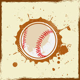 Rocznika grunge baseball Fotografia Stock