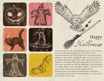 Rocznika Halloween plakat. ilustracji