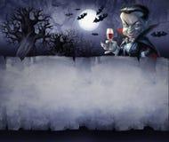 Rocznika Halloween tło Zdjęcia Royalty Free