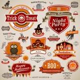 Rocznika halloweenowy set Fotografia Stock