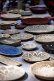 Rocznika handmade tableware, naczynia fotografia royalty free