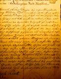 Rocznika handwriting Zdjęcia Royalty Free
