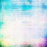 Rocznika handwriting tekstura Zdjęcie Royalty Free