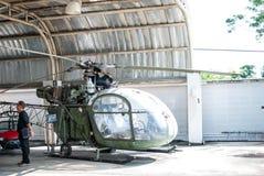 Rocznika helikopter dla kolekci Obraz Royalty Free