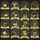 Rocznika hobby etykietki set Zdjęcie Stock