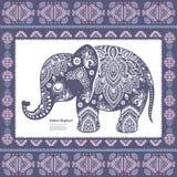 Rocznika Indiański słoń Fotografia Royalty Free