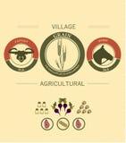 Rocznika infographics żniwo i uprawiać ziemię ilustracji