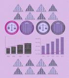 Rocznika infographics monety i pieniądze ilustracji