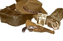 rocznika inkasowy sepiowy western Zdjęcie Stock