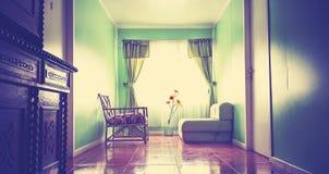 Rocznika instagram stylizował fotografię gadka pokój Fotografia Stock