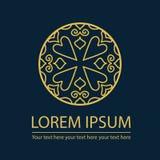 Rocznika języka arabskiego stylu projekta loga element Obraz Royalty Free